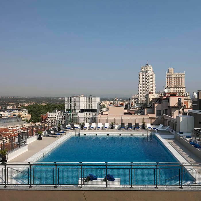 Terraza Hotel Emperador Madrid Centro Web Oficial